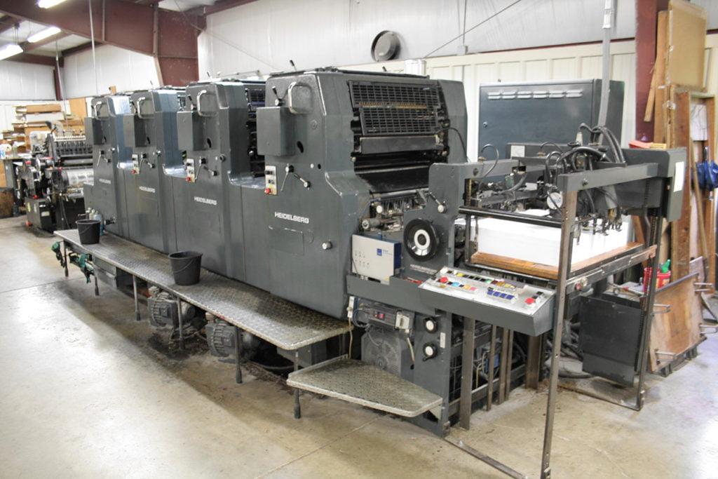 heidelberg printing press tope printing millersburg ohio